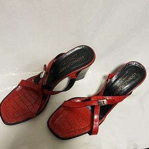 Donald J Pliner Red Sandals